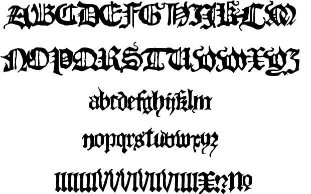 black letter typeface download