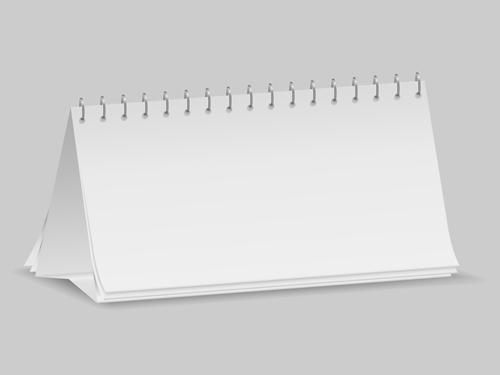 Blank Desk Calendar Template