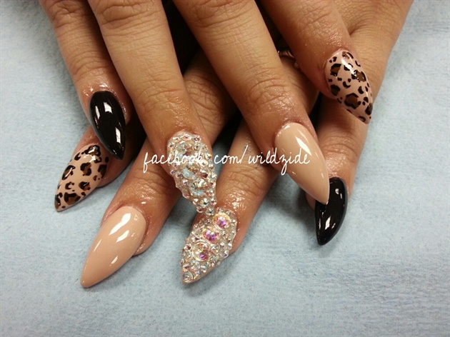 10 Blinged Out Acrylic Nail Designs Images
