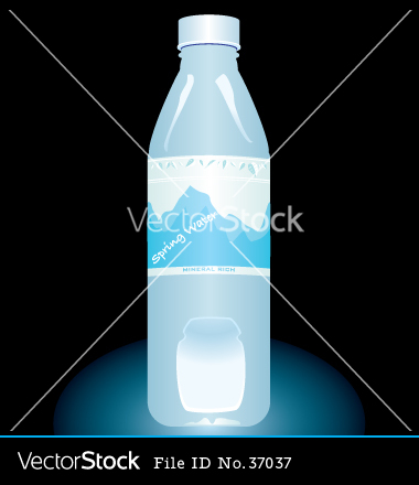 Bottled Water Vector
