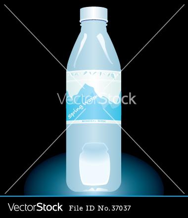 Bottled Water Vector