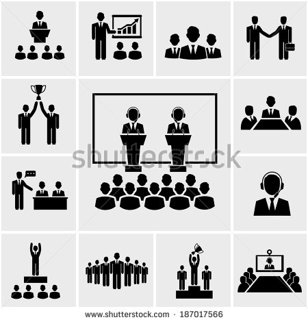 Business People Silhouette Clip Art Conference