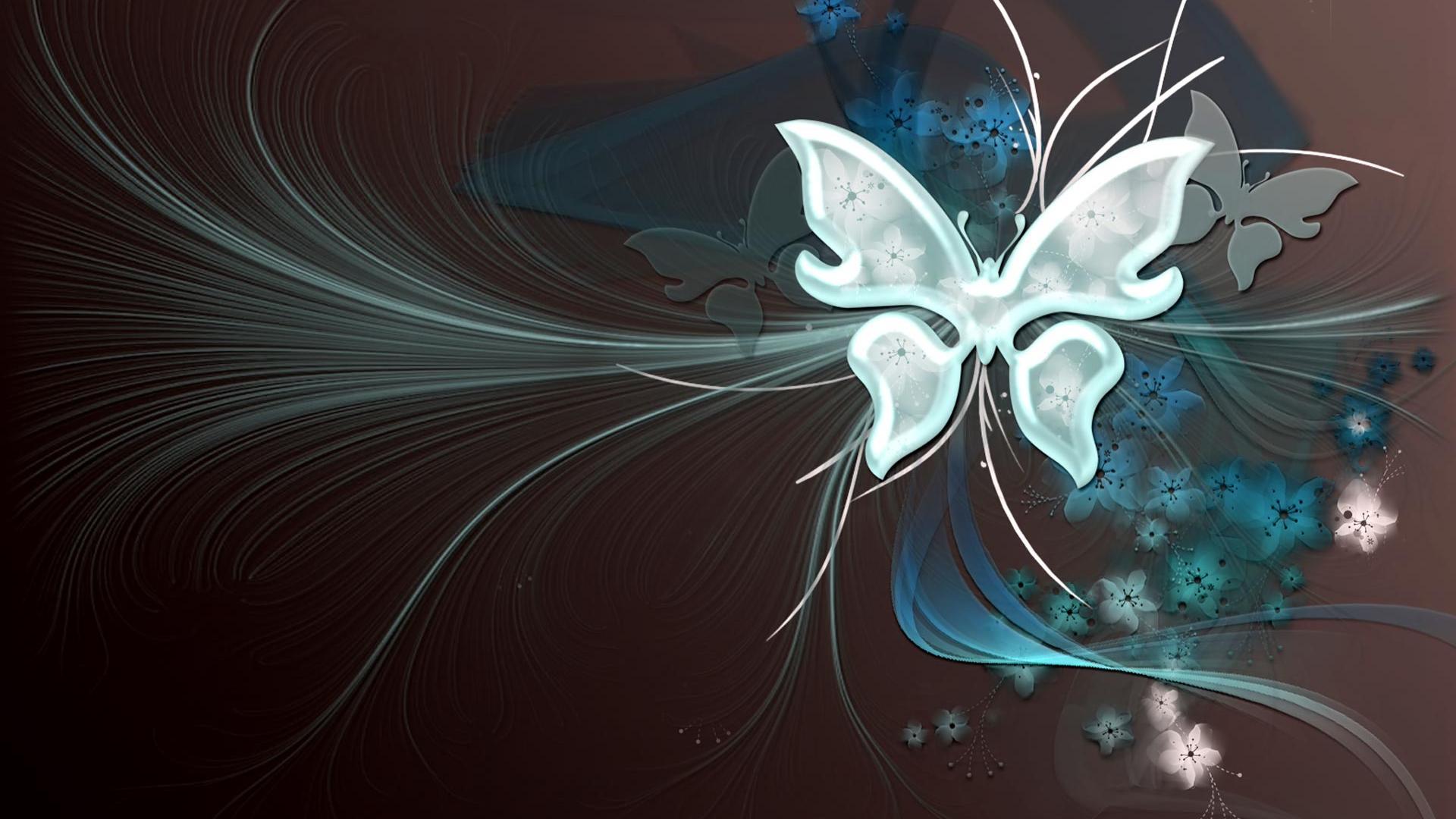 Butterflies Vector Art Wallpaper