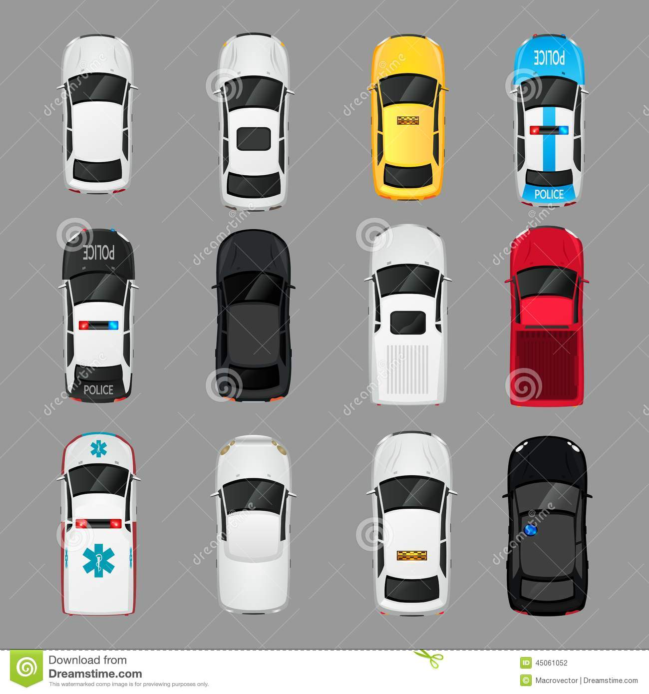 13 Car Top View Vector Icon Images Car Top View Vector