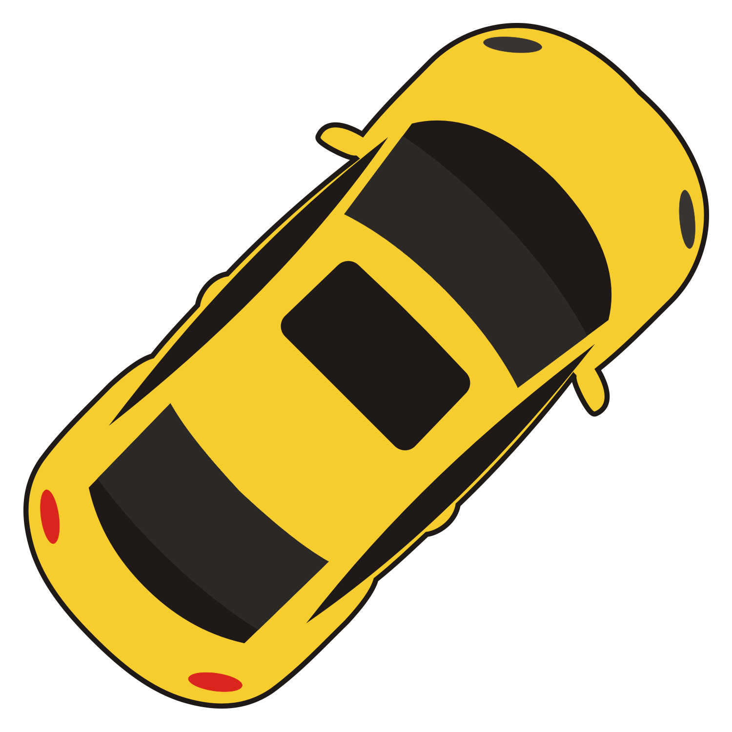 13 Car Top View Vector Icon Images