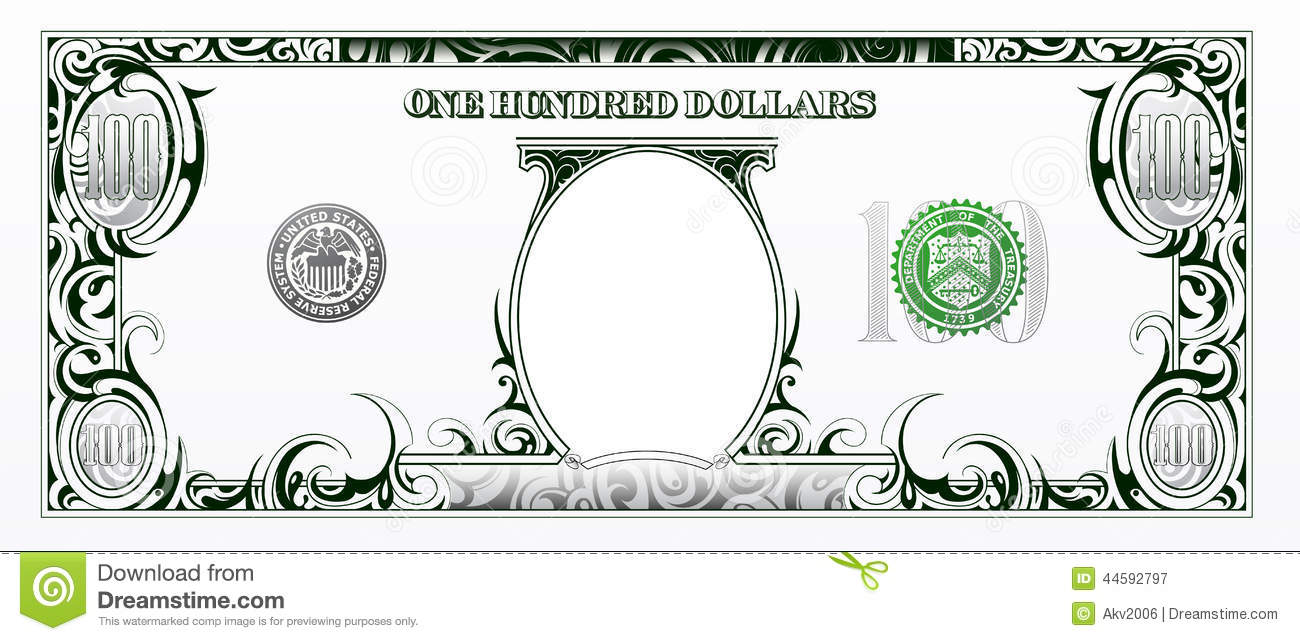Cartoon 100 Dollar Bill