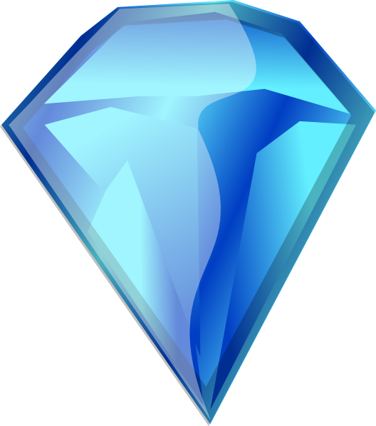 Cartoon Diamonds Clip Art