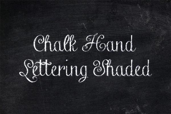 Chalkboard Hand Lettering Font Free