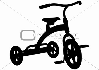 Children Tricycle Silhouette
