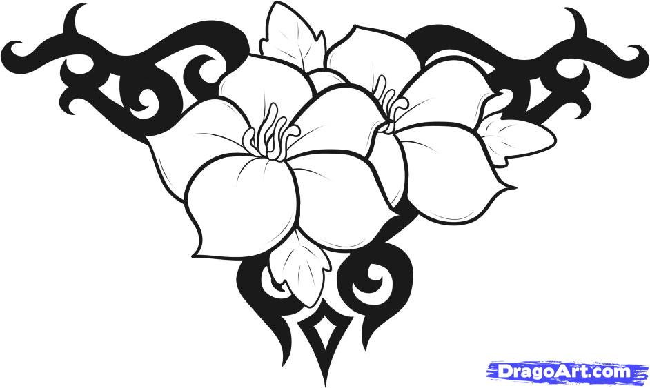 Cool Design to Draw Easy Flowers