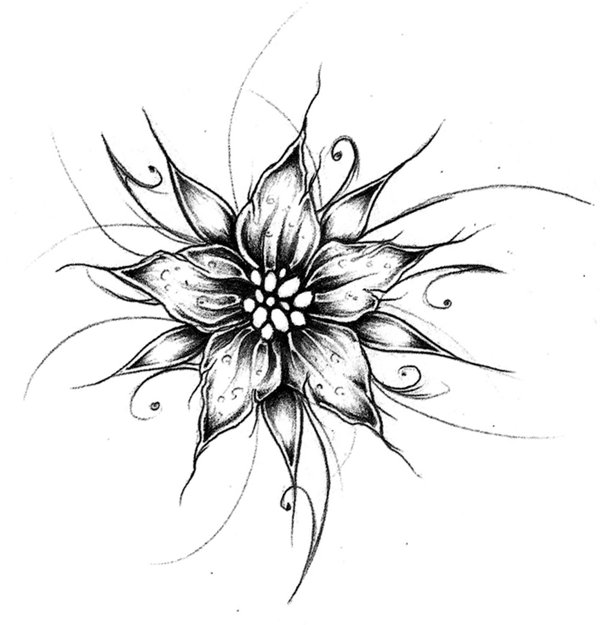 Cool Designs to Draw Flower
