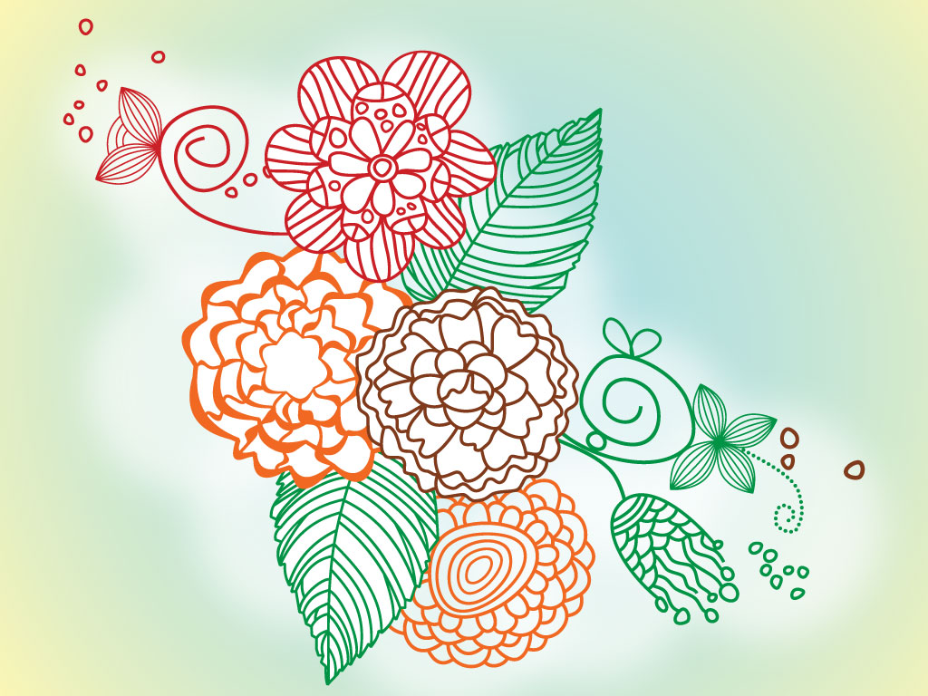 Cool Drawing Designs Flowers