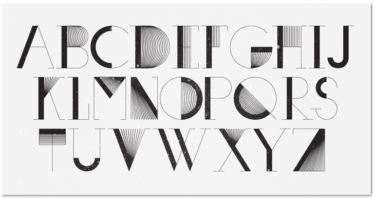 Cool Fonts Letter Graphic Design