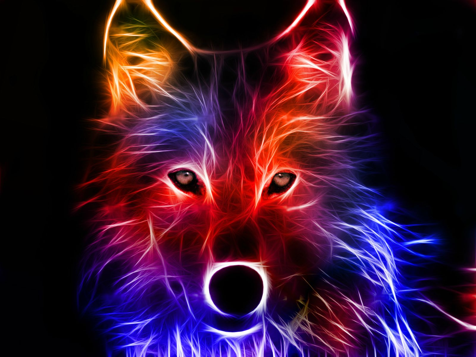 Cool Neon Wolves