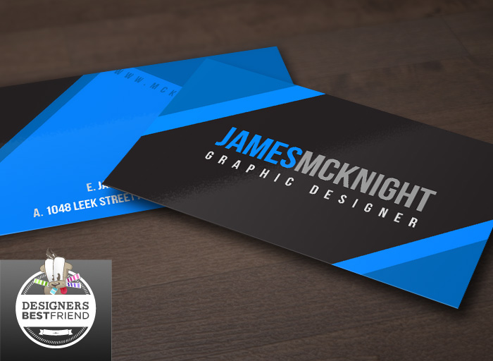 Corporate Business Card Template Blue