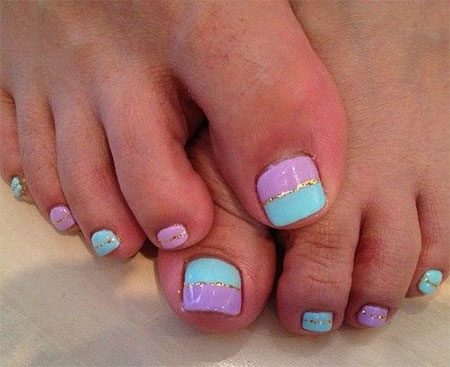16 Cute Easy Nail Designs For Toenails Images