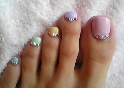 Cute Toe Nail Designs Pastel