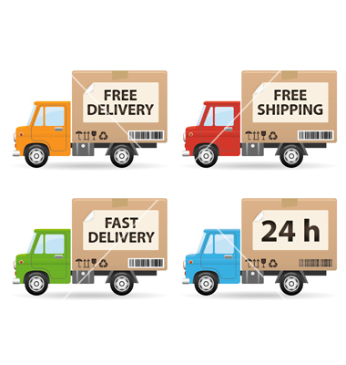 delivery truck vector - photo #15