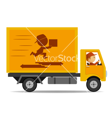 delivery truck vector - photo #1