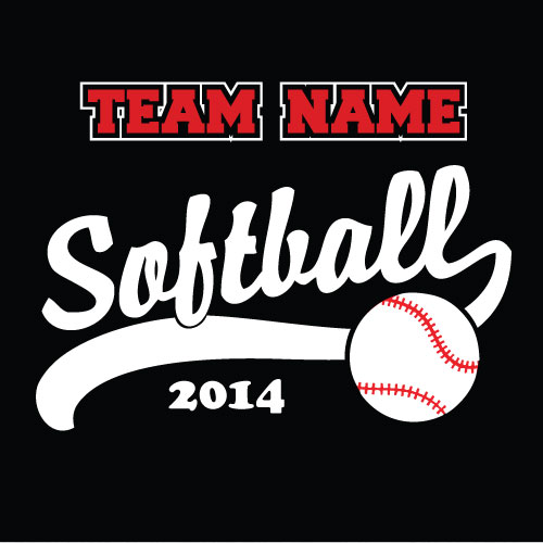 Design Shirt Softball Clip Art