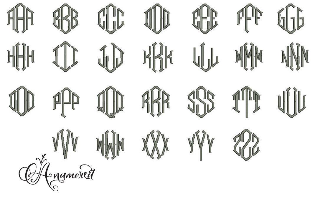 8 diamond monogram font images