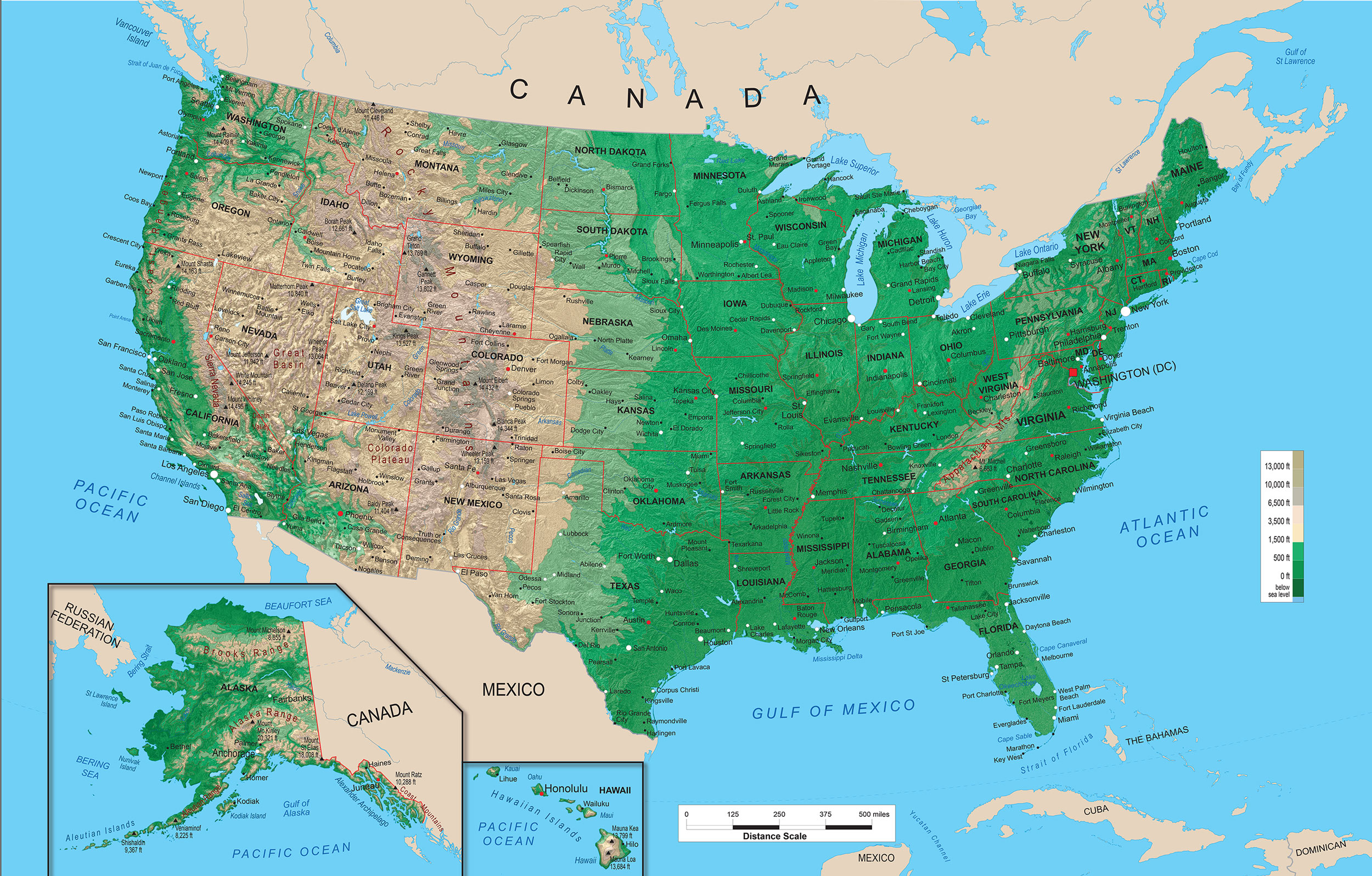 11 Topographic Map Of The United States Images - Us Topographic Map ...