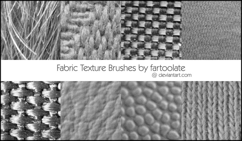 Fabric Texture Photoshop Brushes