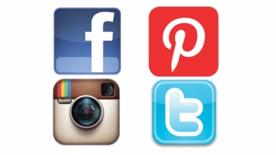 19 Facebook Twitter Instagram Pinterest Icons Images