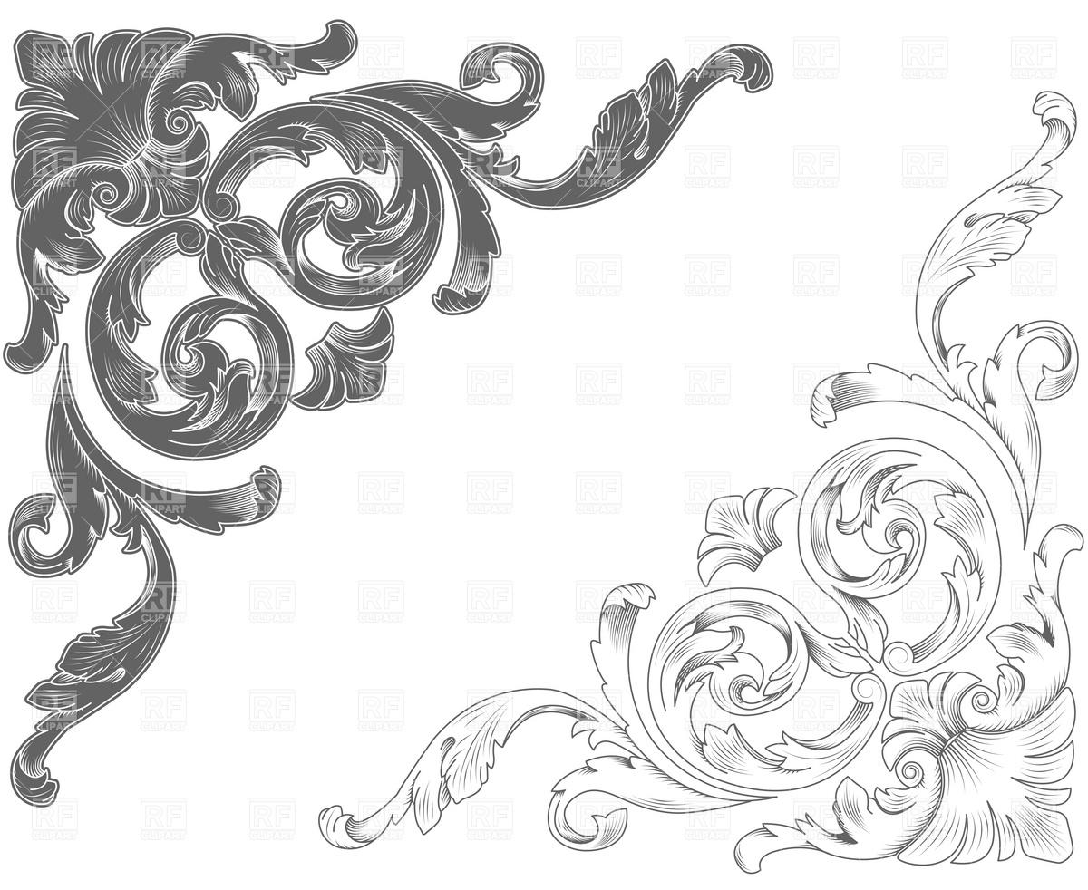 8 filigree corner designs images abstract floral corner for Filigree border designs