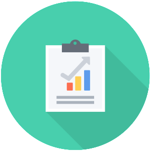 17 report icon flat images accounting document icon