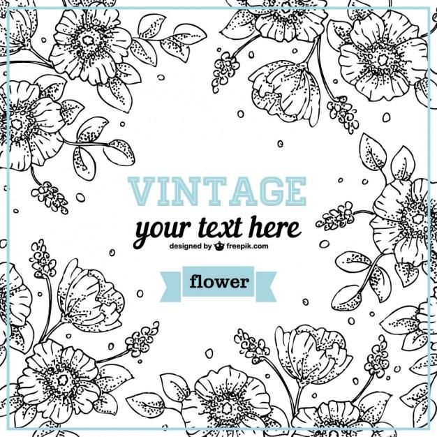 Floral Line Design Art