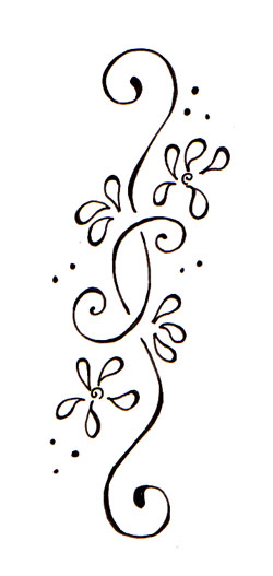 Floral Line Tattoo Designs