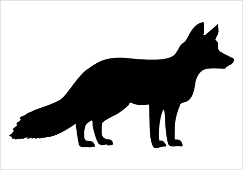 9 Fox Silhouette Vector Images