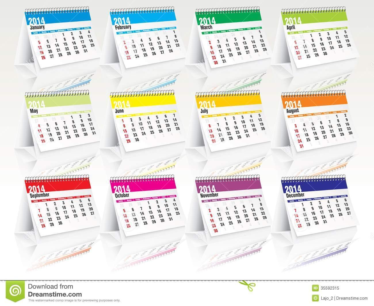 Free 2014 Desk Calendars
