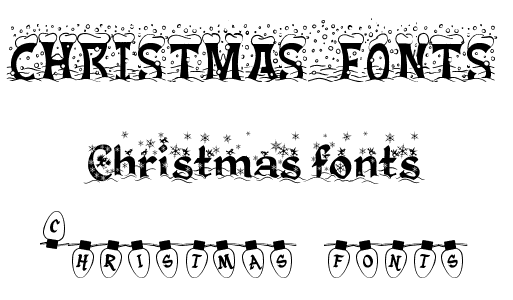 15 Microsoft Word Downloadable Christmas Fonts Images - Free