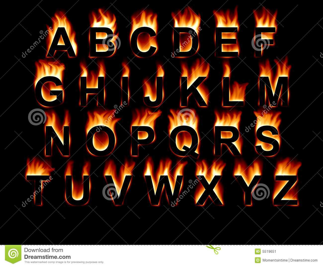 Tattoo fire font vector illustration of fonts & type © popaukropa.