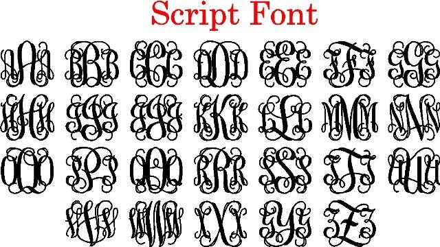 11 Interlocking Script Font Images