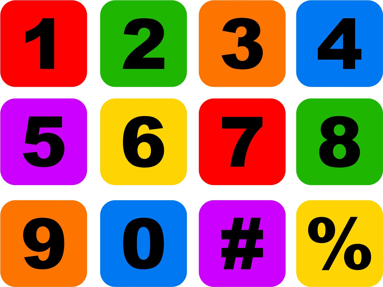 7 Number Icon Set Images
