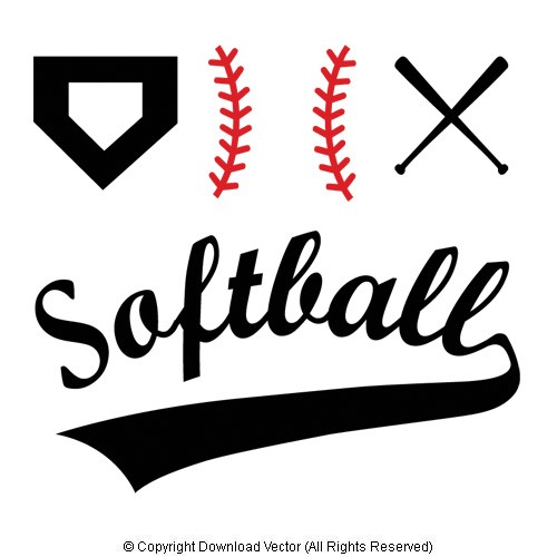 Free Softball Vector Clip Art