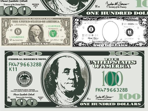 Free Vector Dollar Bill