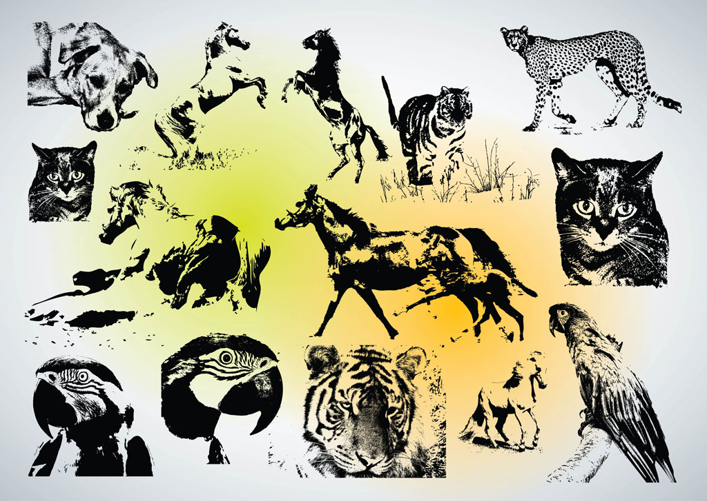 19 Vector Animal Images