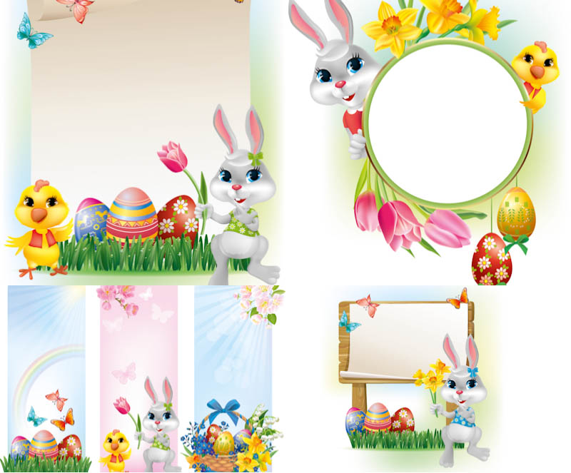 Free Vector Easter Bunnies