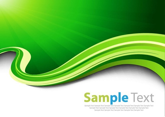 18 Vector Abstract Green Waves Images