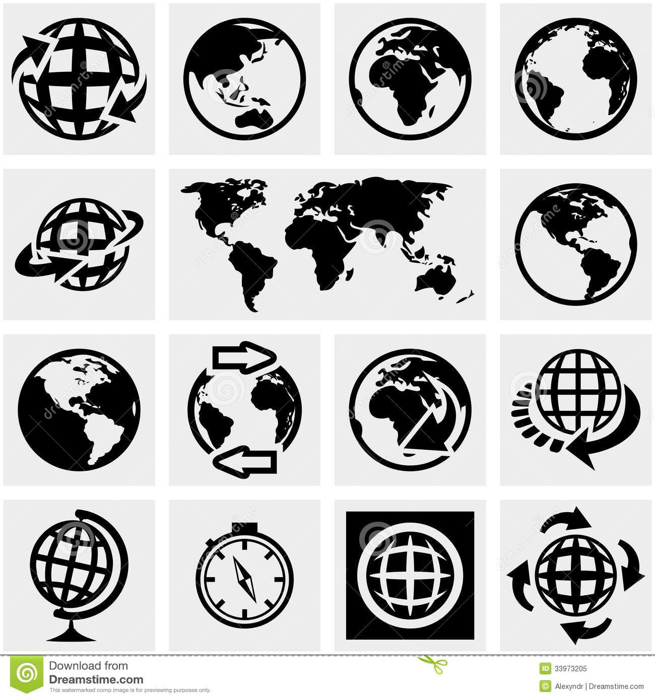 Globe Icon Vector Free