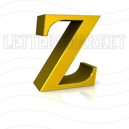 Gold Letter Z