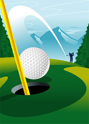 10 Golf Course Vector Graphics Images