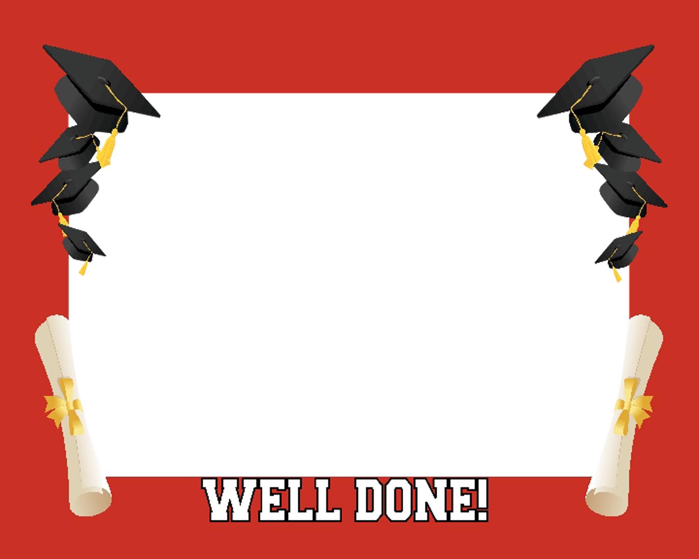 12 Graduation Borders PSD Images - Graduation Clip Art ...Red Graduation Borders