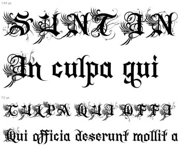 10 Gangster Letter Fonts Images