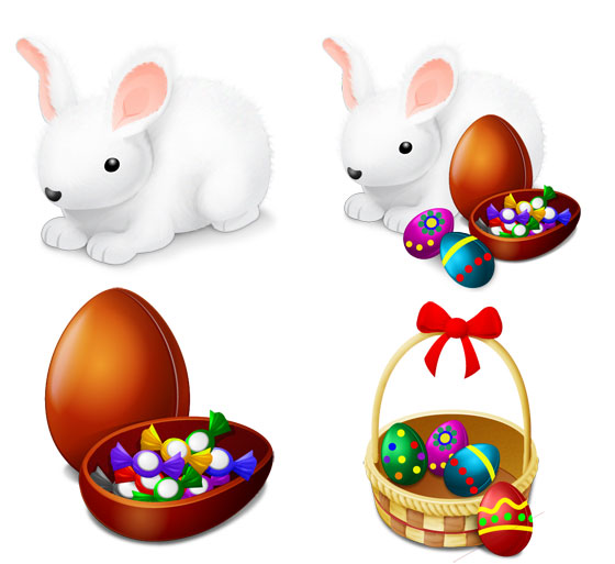 Happy Easter Bunny Icons