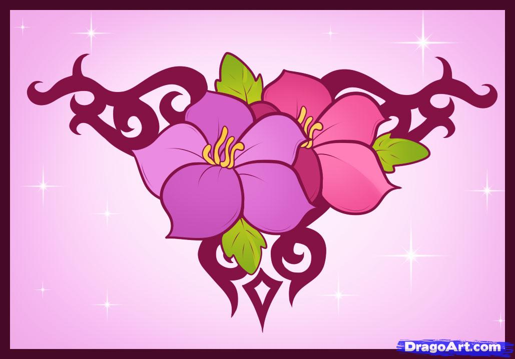 How to Draw an Easy Flower Design